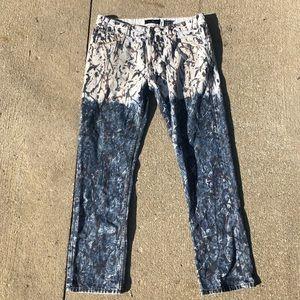 Vintage painted jeans